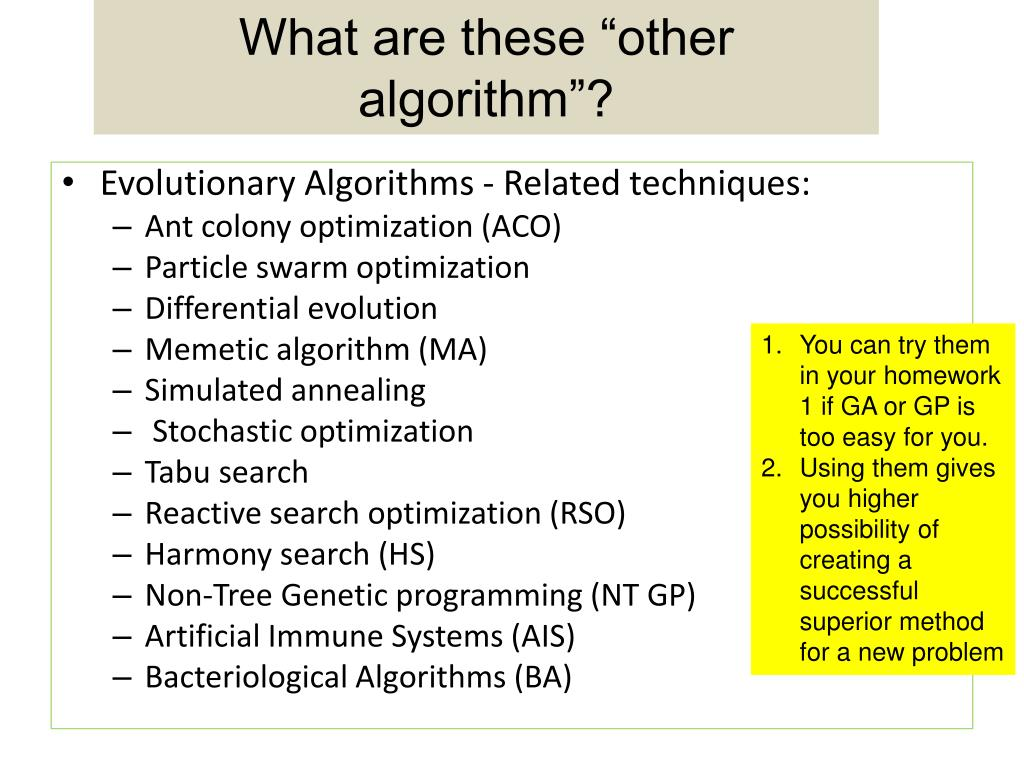 """What are these """"other algorithm""""?"""