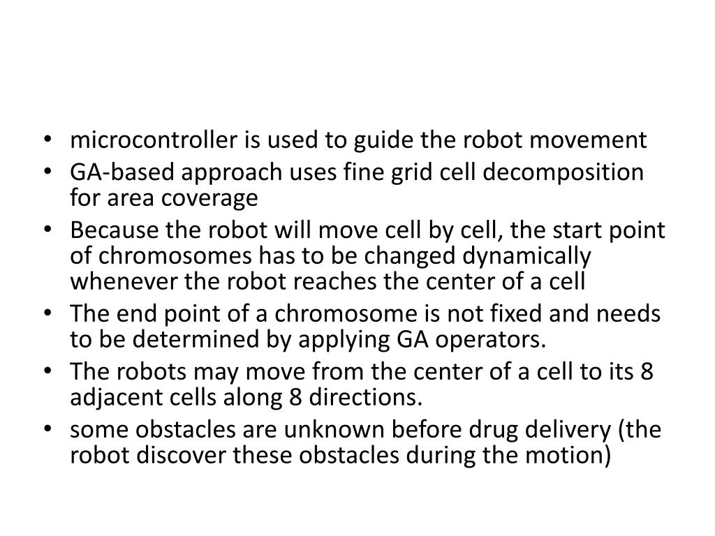 microcontroller is used to guide the robot movement