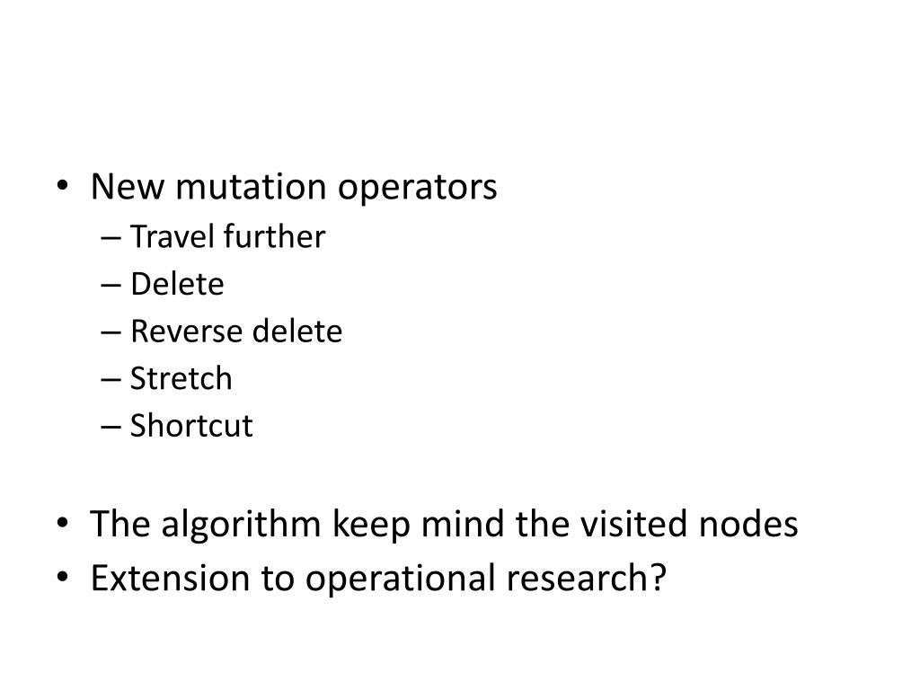 New mutation operators