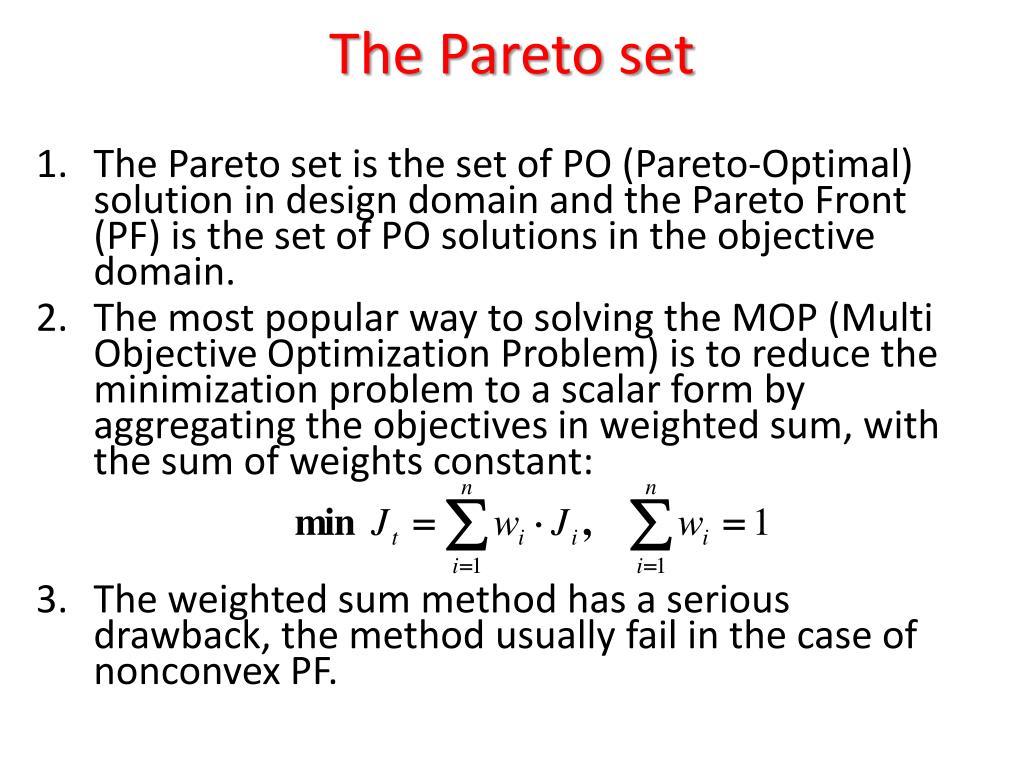 The Pareto set