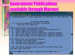 government publications available through marmot