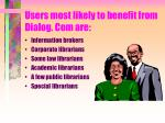 users most likely to benefit from dialog com are