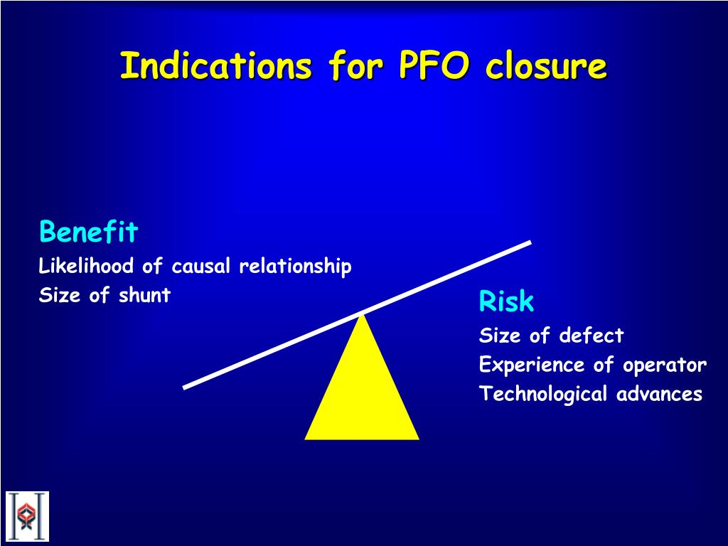 Indications for PFO closure