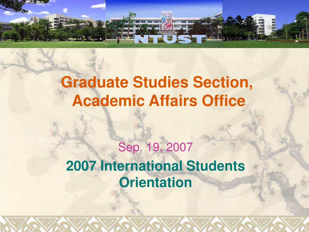 graduate studies section academic affairs office l.
