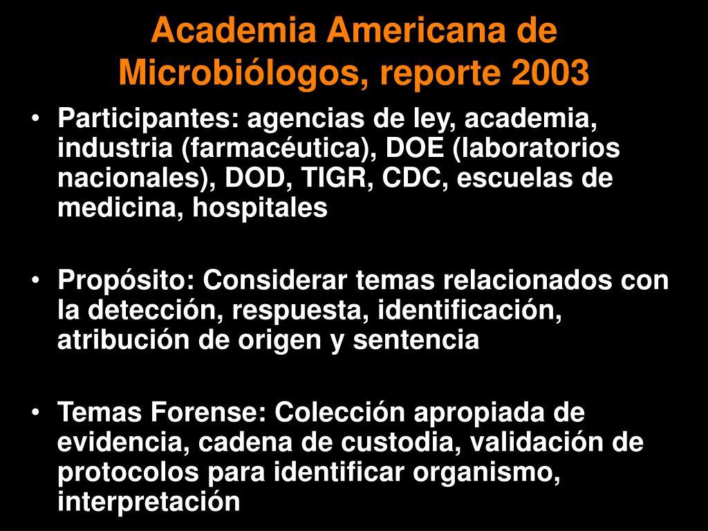 Academia Americana de Microbi