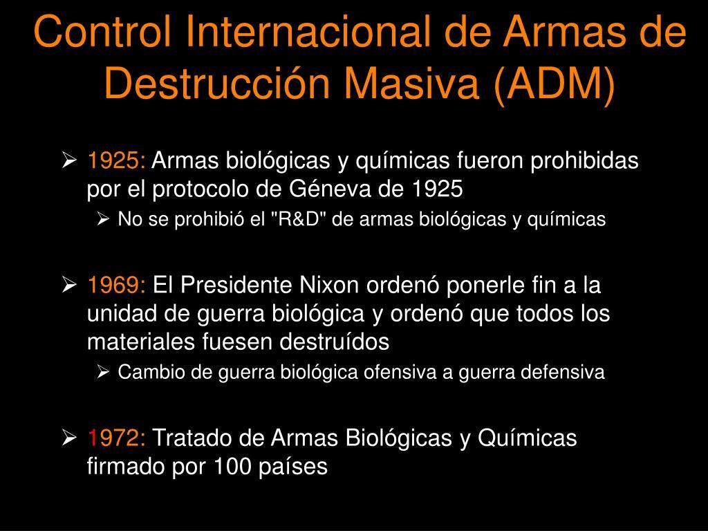 Control Internacional de Armas de Destrucci
