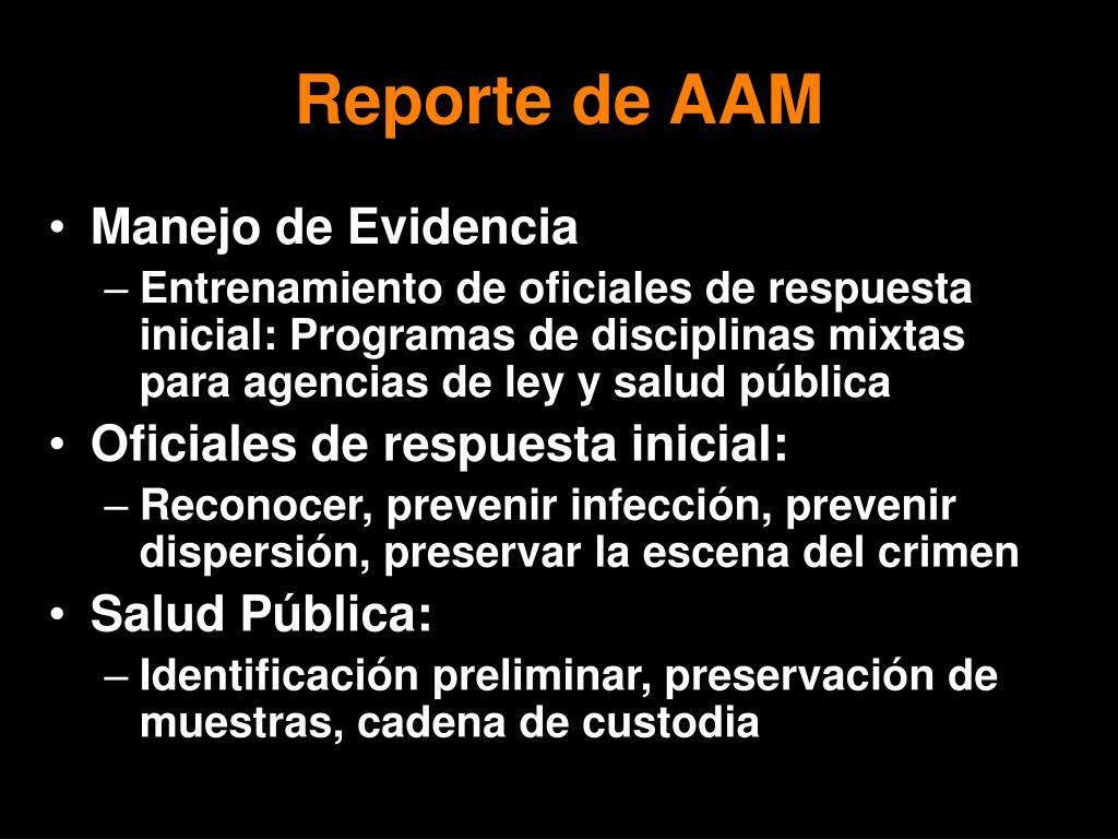 Reporte de AAM
