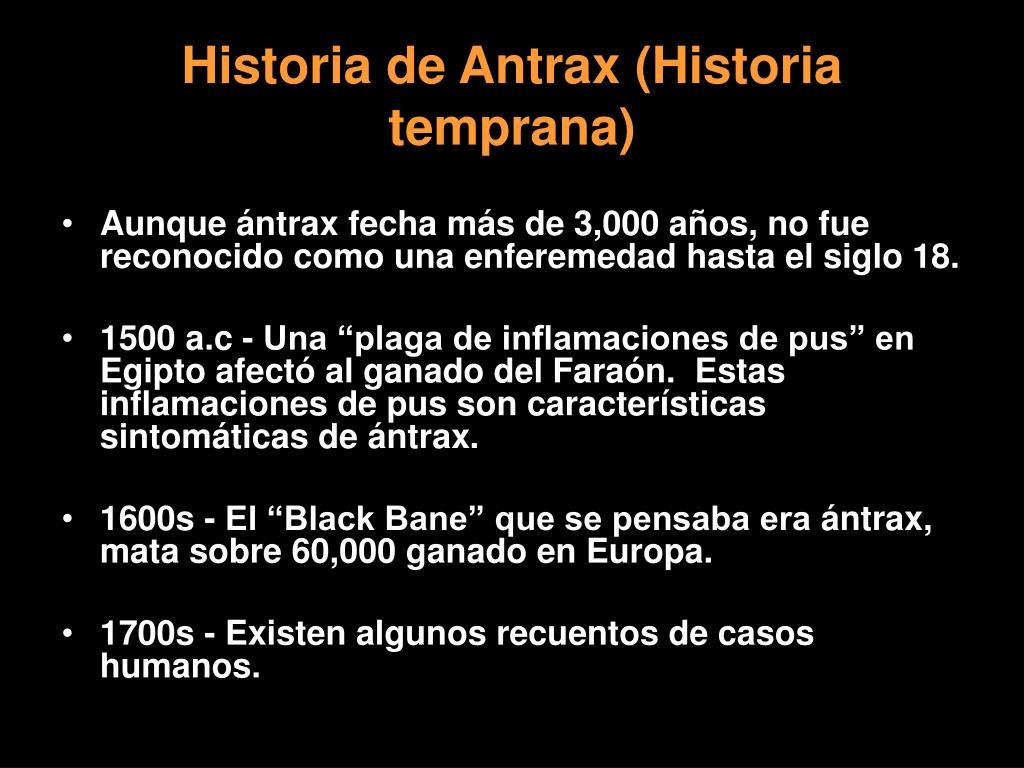 Historia de Antrax (Historia temprana)
