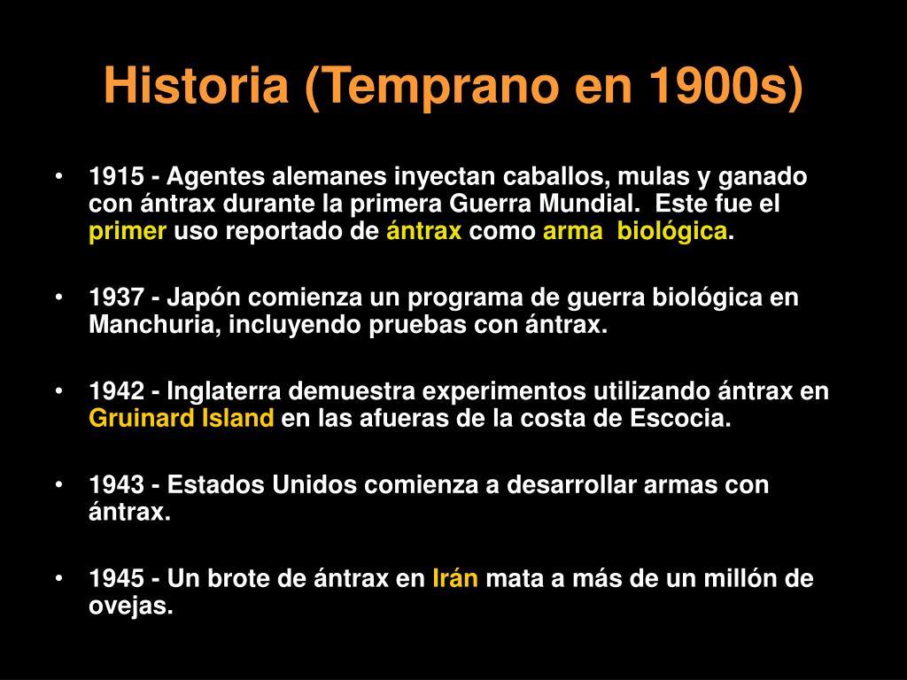 Historia (Temprano en 1900s)