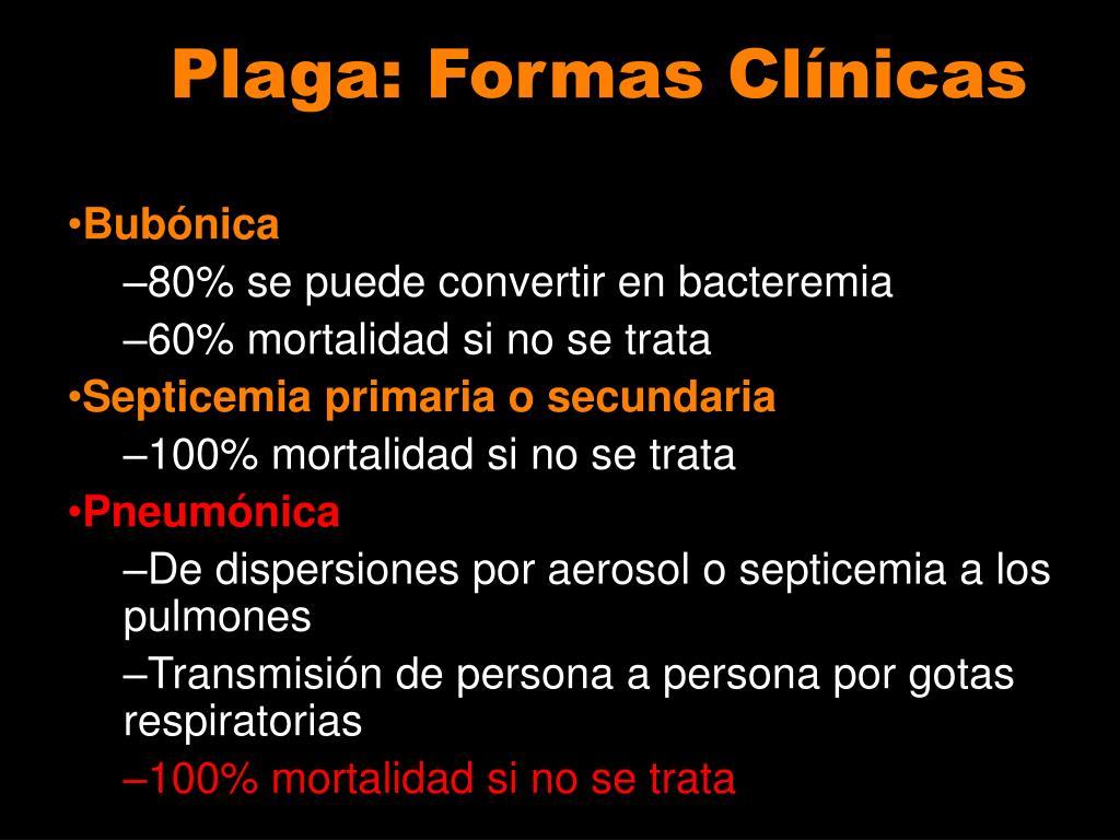 Plaga: Formas Clínicas
