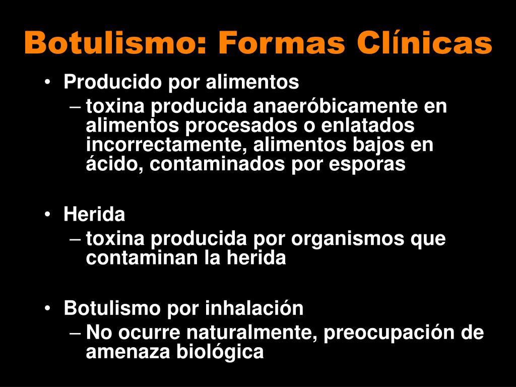 Botulismo: Formas Cl