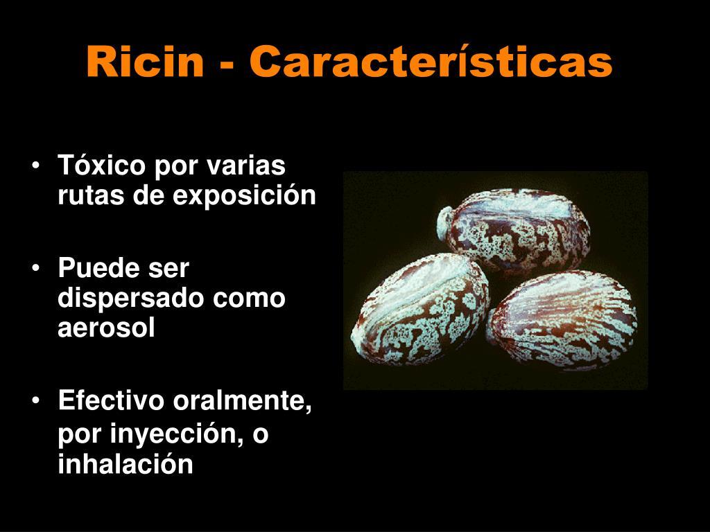 Ricin - Caracter