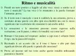 ritmo e musicalit