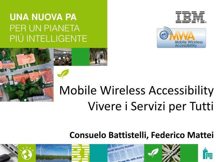 mobile wireless accessibility vivere i servizi per tutti n.