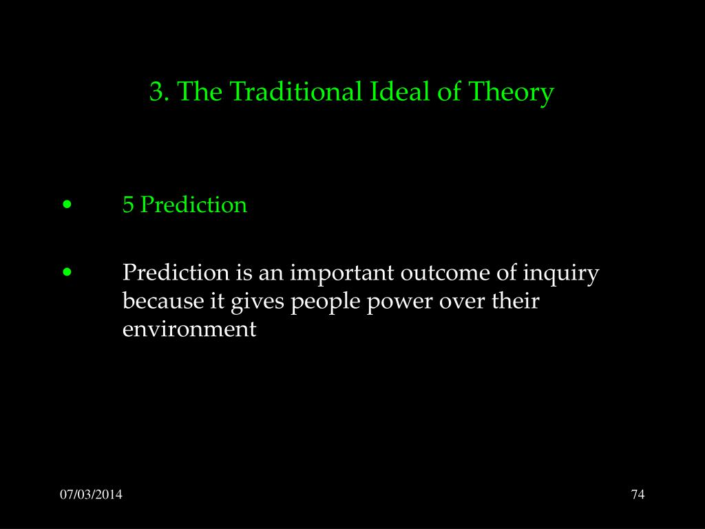 3. The Traditional Ideal of Theory