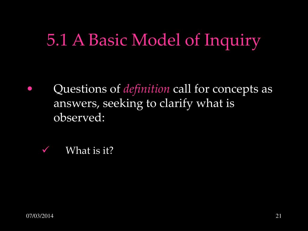 5.1 A Basic Model of Inquiry