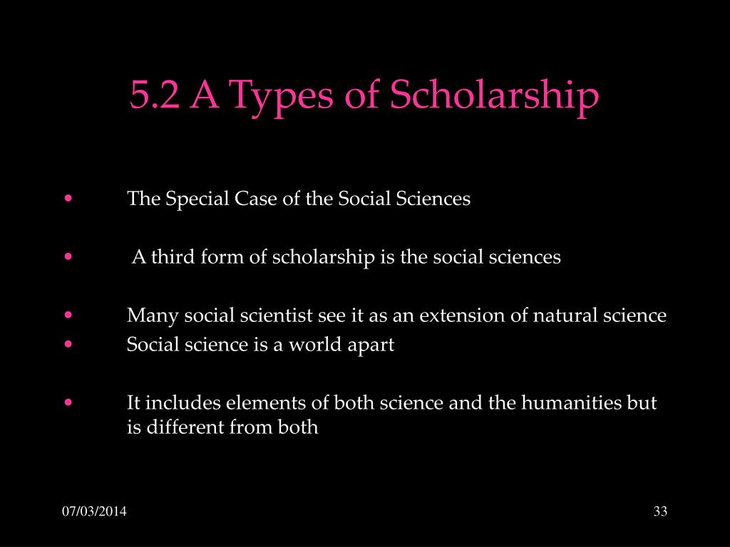 5.2 A Types of Scholarship