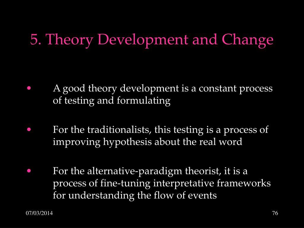 5. Theory Development and Change
