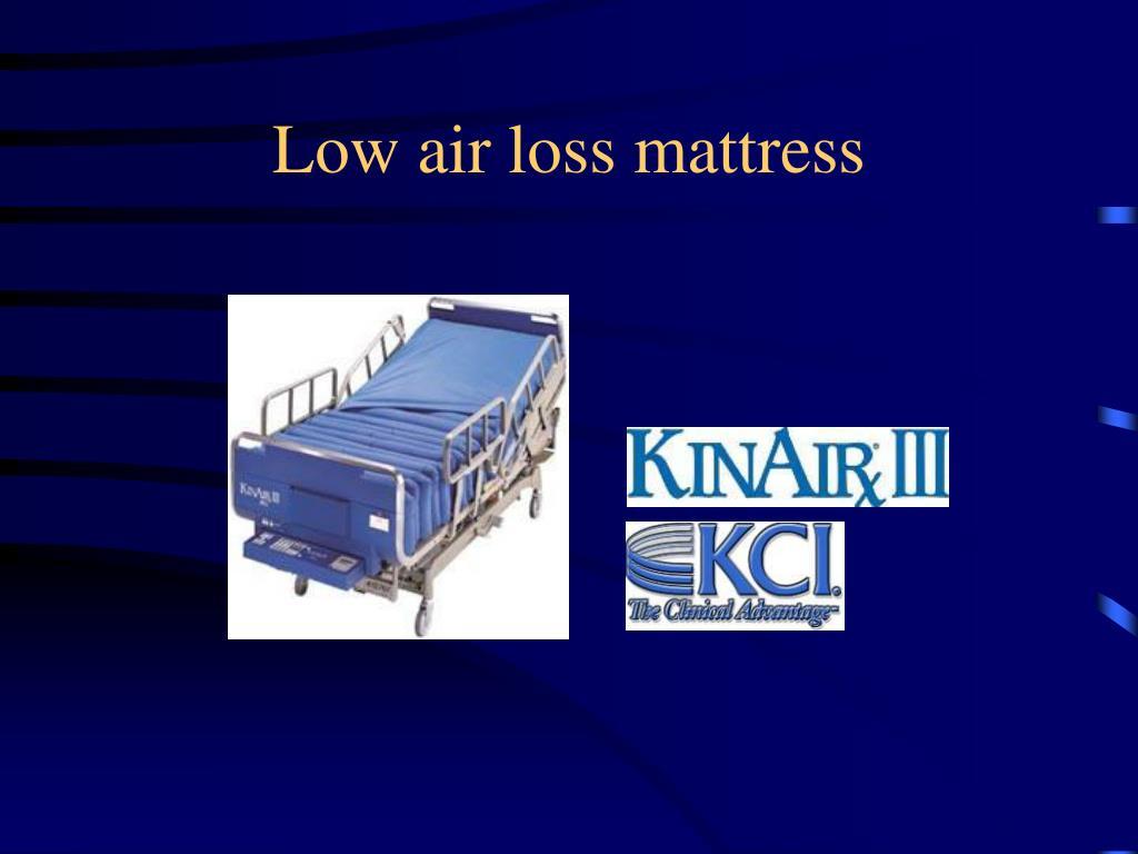 Low air loss mattress