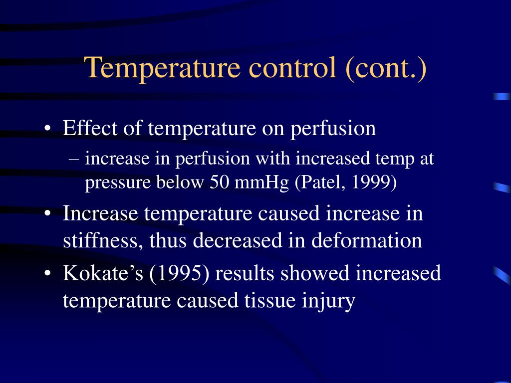Temperature control (cont.)