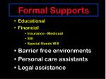 formal supports66