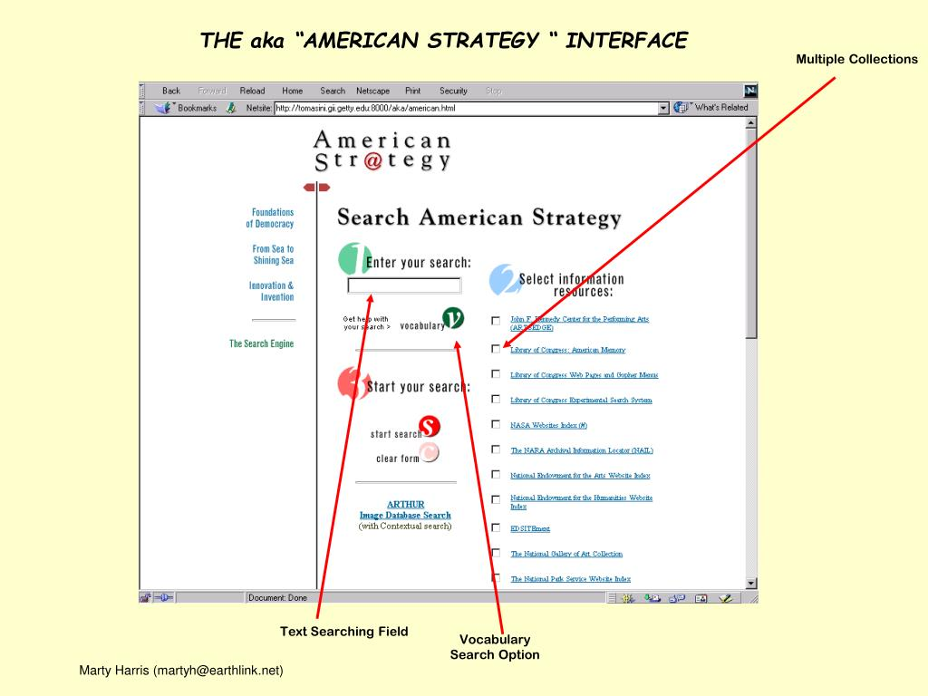 "THE aka ""AMERICAN STRATEGY "" INTERFACE"
