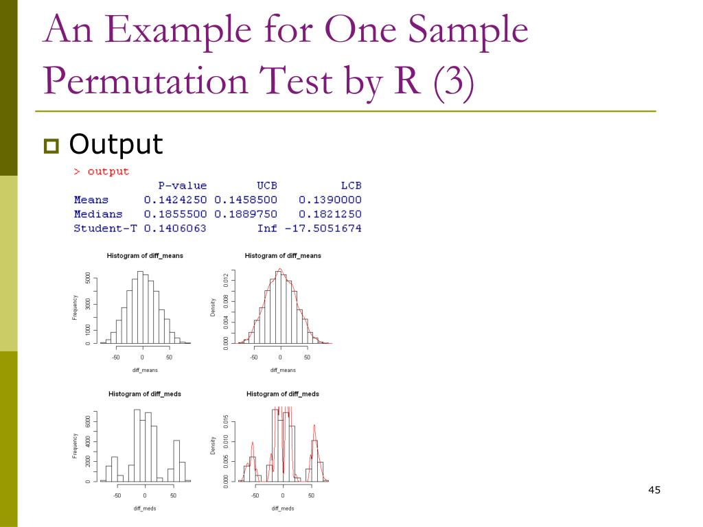 An Example for One Sample Permutation Test by R (3)