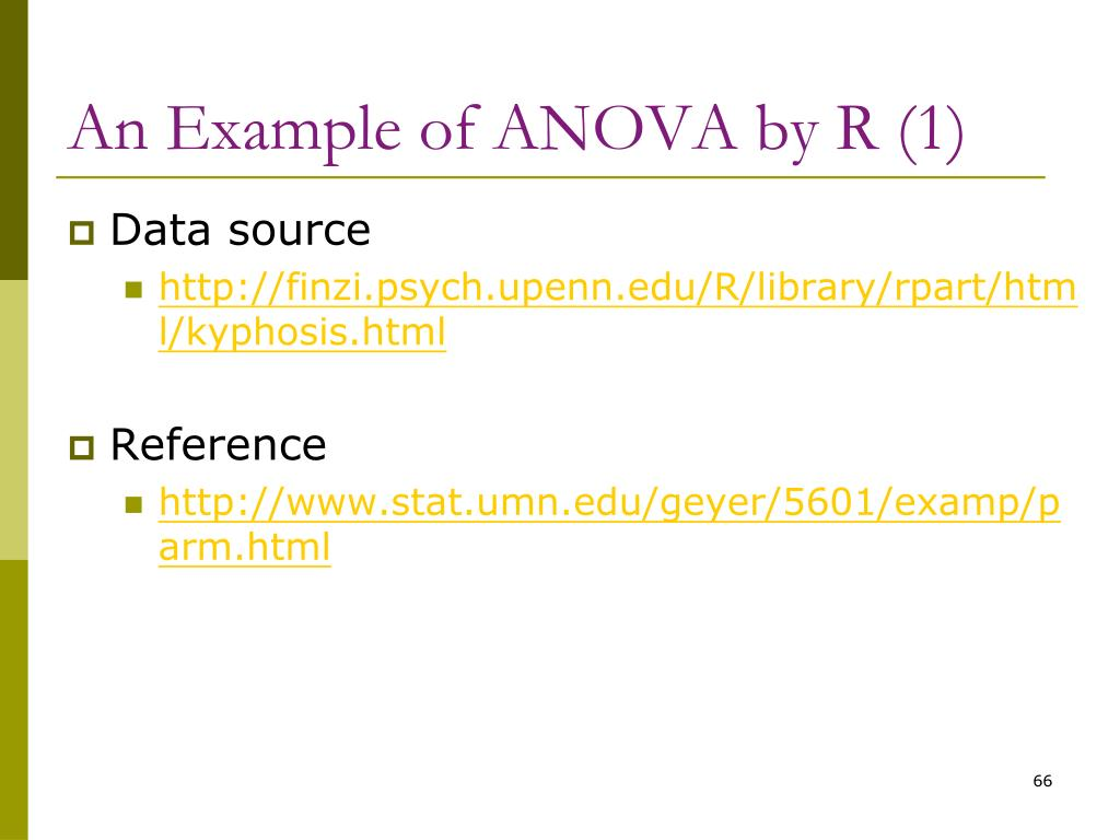 An Example of ANOVA by R (1)
