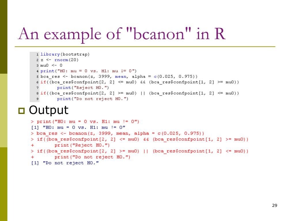 "An example of ""bcanon"" in R"