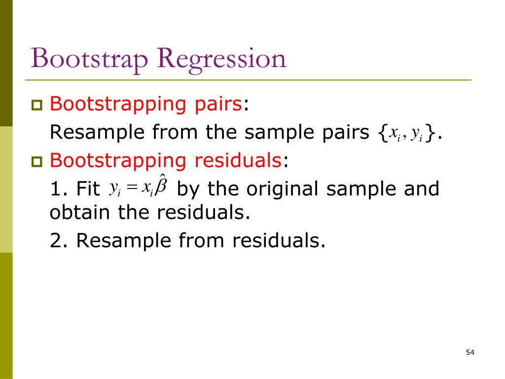 Bootstrap Regression