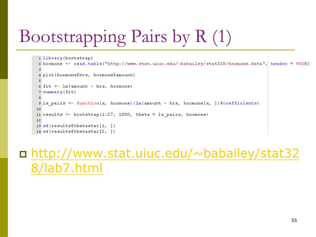 Bootstrapping Pairs by R (1)