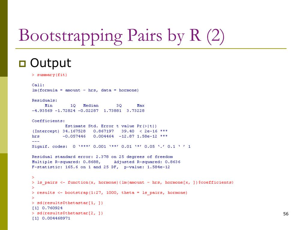 Bootstrapping Pairs by R (2)