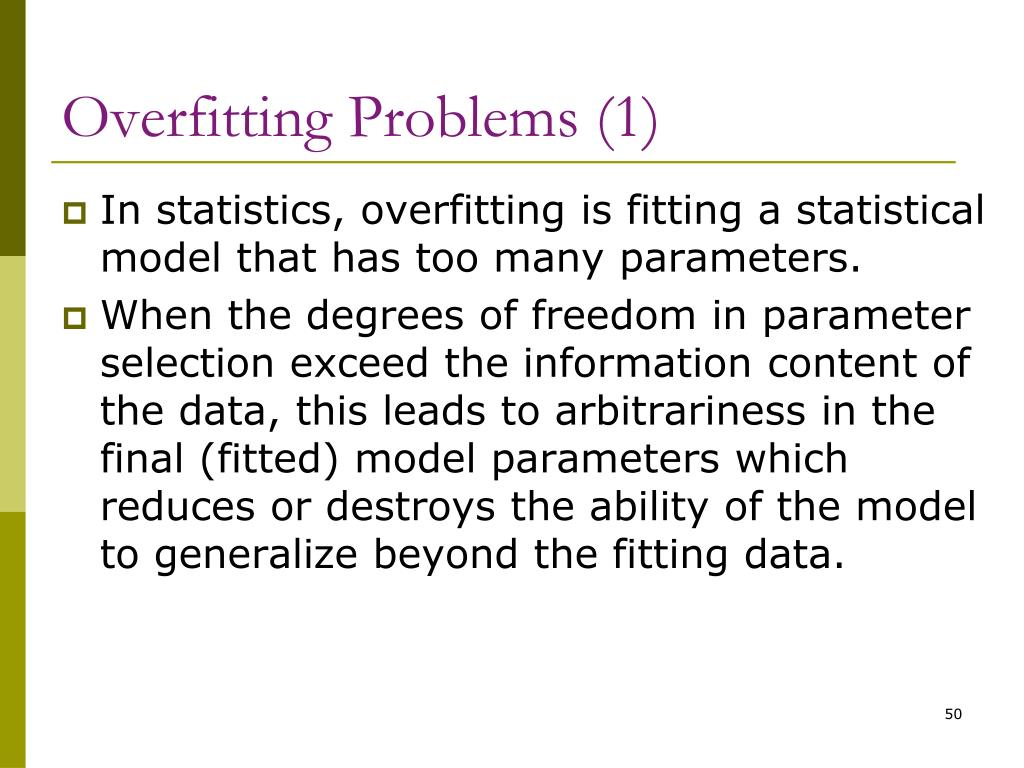 Overfitting Problems (1)
