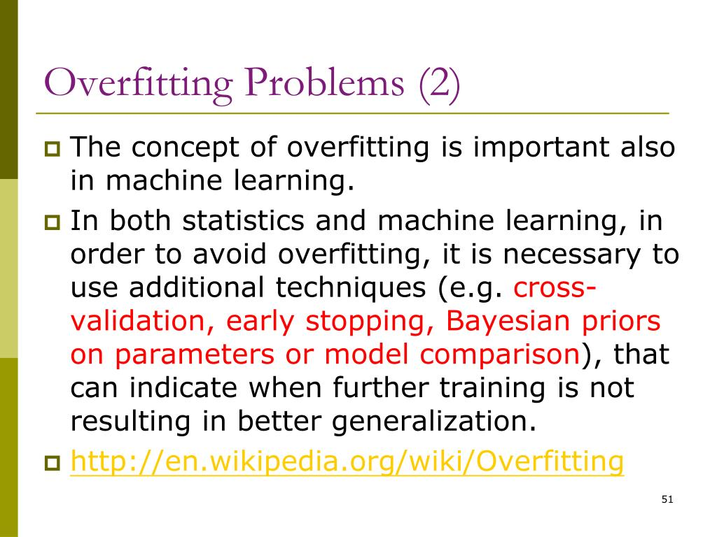 Overfitting Problems (2)