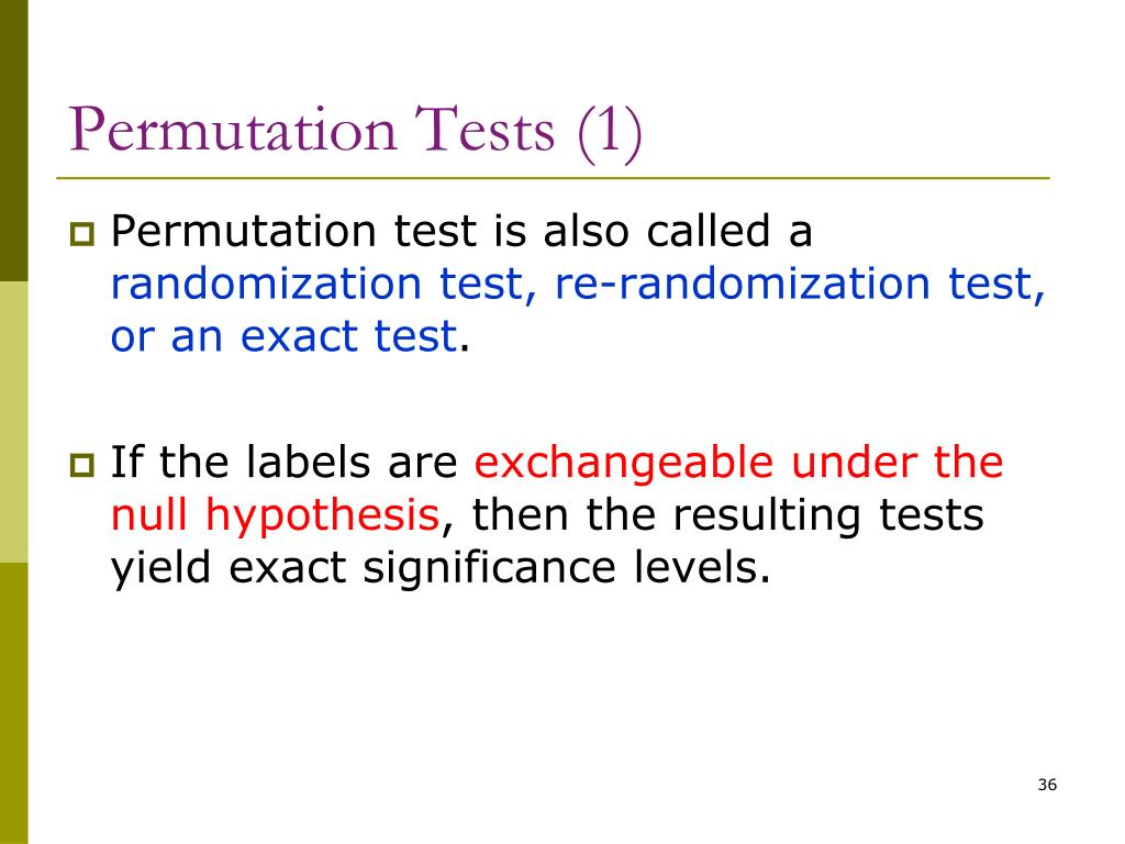 Permutation Tests (1)