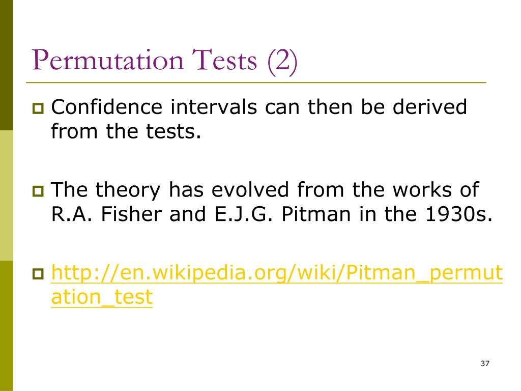 Permutation Tests (2)