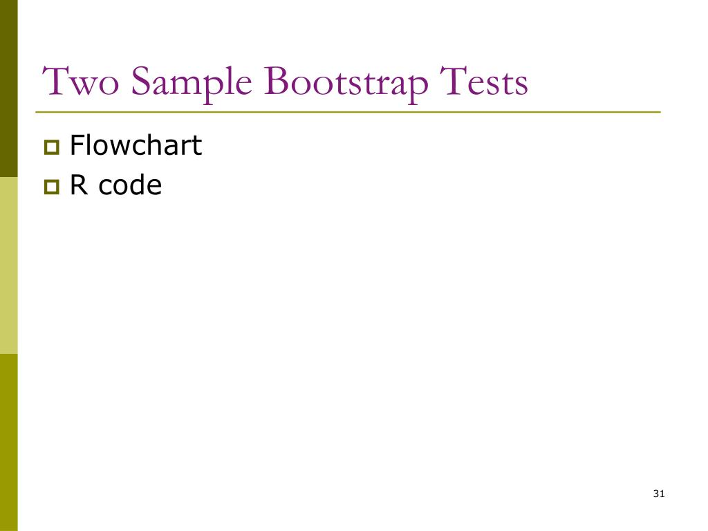Two Sample Bootstrap Tests