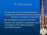g conclusion