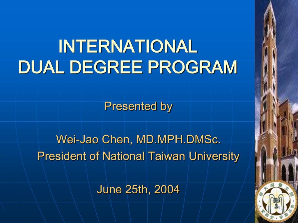 international dual degree program l.