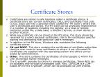 certificate stores