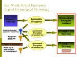 real world hybrid encryption typical for encrypted file storage
