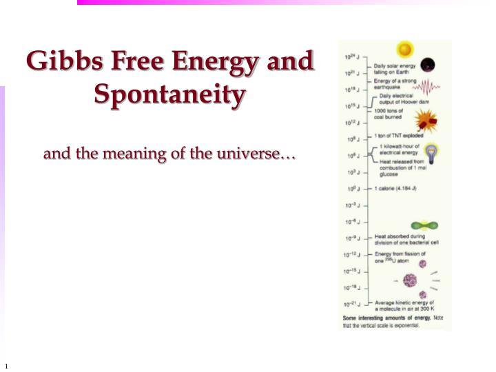 gibbs free energy and spontaneity and the meaning of the universe n.