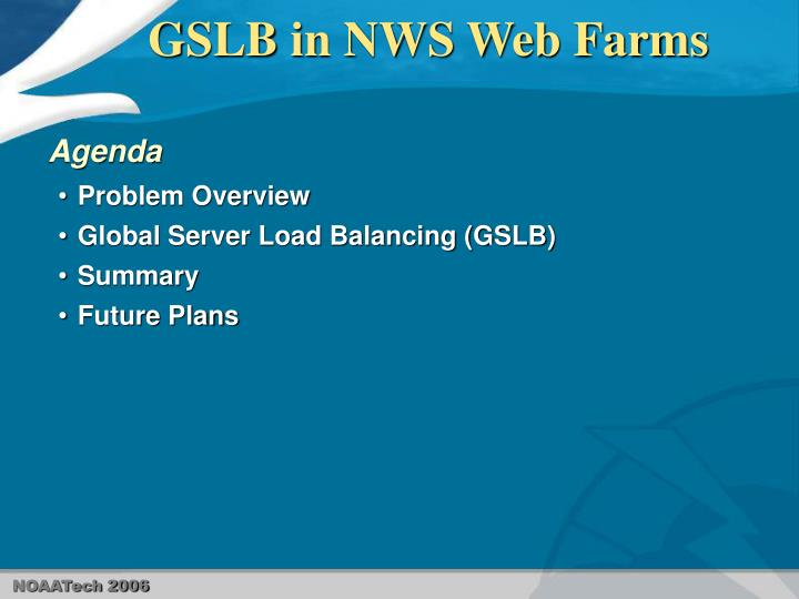 Gslb in nws web farms