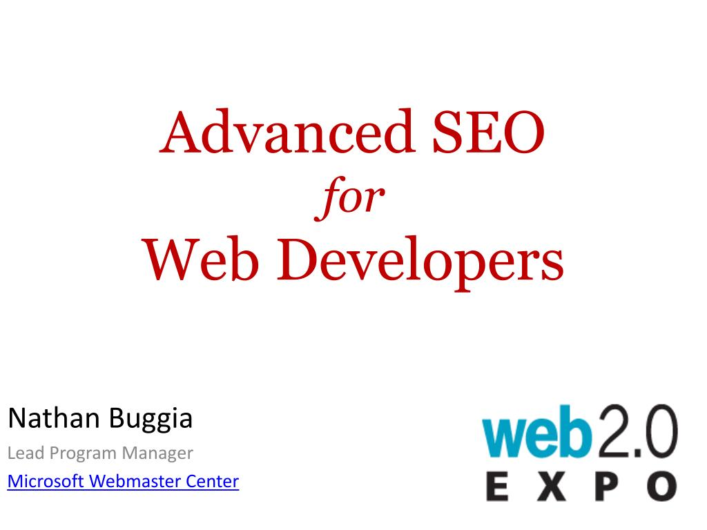 advanced seo for web developers l.