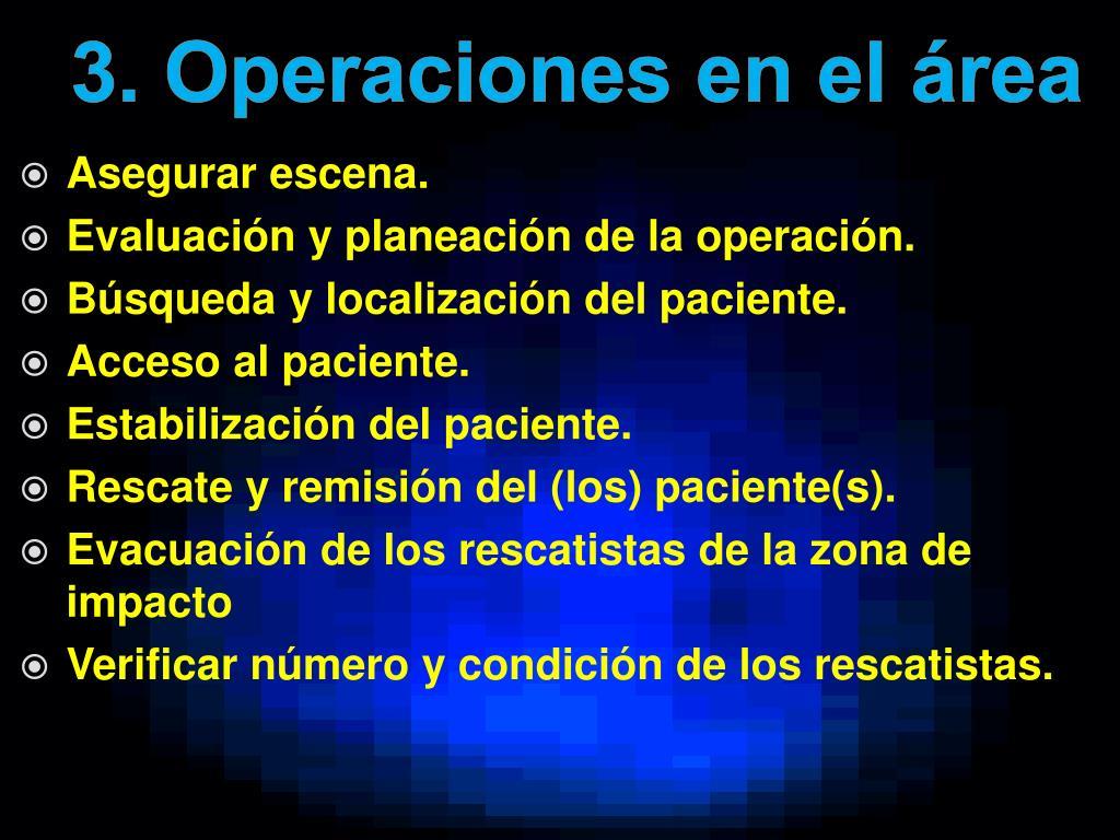 3. Operaciones en el área