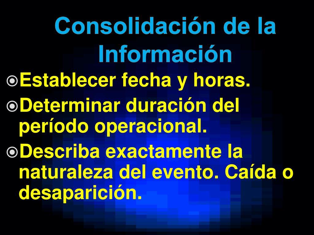 Consolidación de la Información