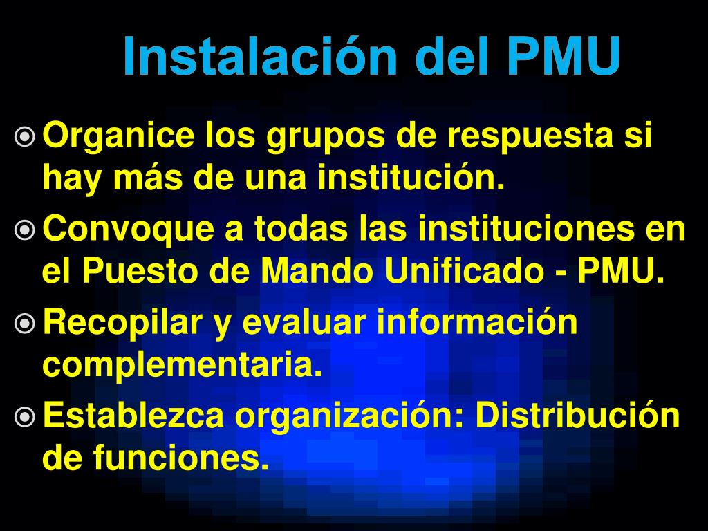 Instalación del PMU