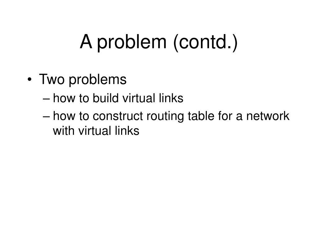 A problem (contd.)