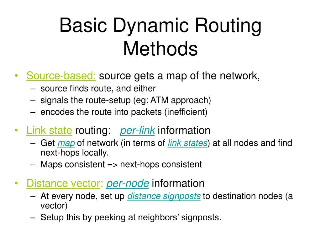 Basic Dynamic Routing Methods