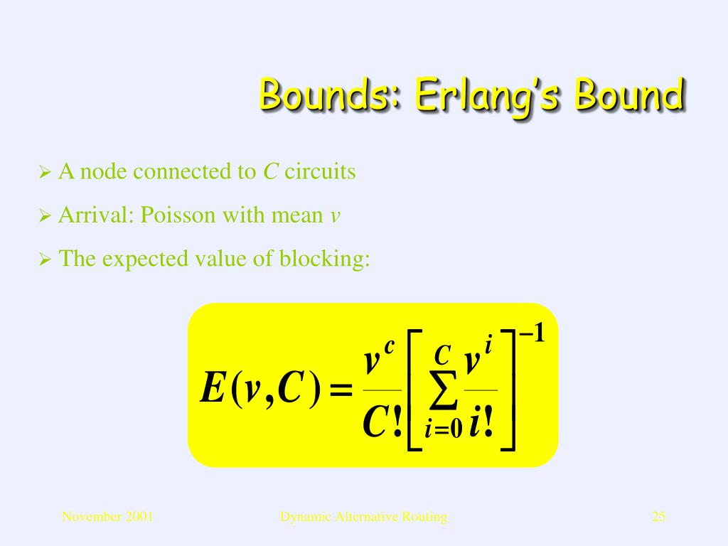 Bounds: Erlang's Bound